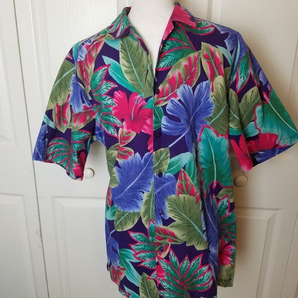 Hilo Hattie Other - Hilo Hattie Vintage Men Hawaiian Shirt Large